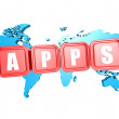 Apps world — Stockfoto