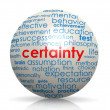 Certainty sphere — Stock Photo