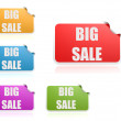 Big sale label set — Stock Photo