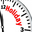 Holiday clock — Stock Photo