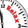Relax clock — Stock Photo