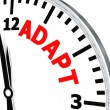 Adapt clock — Stock Photo