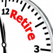 Retire clock — Stockfoto