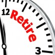 Retire clock — Stock Photo