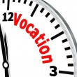Stock Photo: Vocation clock