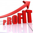 Profit increase — Stock Photo