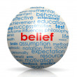 Belief sphere — Stock Photo