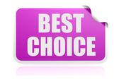 Best choice purple sticker — Stock Photo