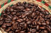 Coffee bean in basket — Stock Photo