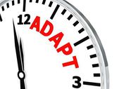 Adapt clock — Stockfoto