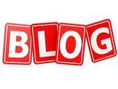 Blog card word — Stock Photo