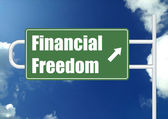 Financial freedom with sky — Stock Photo