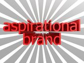 Aspirational brand words — Stock Photo