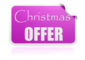 Christmas offer purple sticker — Stock Photo