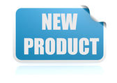 New product blue sticker — Stock Photo