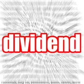 Dividend — Stock Photo