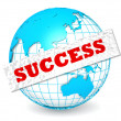 Globe with success word — Stock Photo
