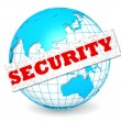 Stock Photo: Globe with security word