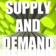 Supply And Demand — 图库照片