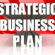 Strategic business plan — Stock Photo