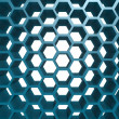 Blue hexagon pattern — Stock Photo