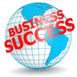 Business success with globe — Stock Photo