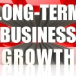 Long-term business growth — Stock Photo