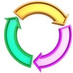 Three arrows circle — Stock Photo #34647399