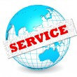 Globe with service word — Stock Photo