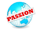 Globe with passion word — Stock Photo