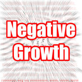 Negative Growth — Stock Photo