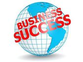 Business success with globe — Stockfoto