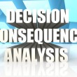 Decision Consequence Analysis — Stock Photo