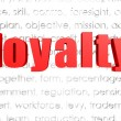 Loyalty word cloud — Stock Photo