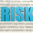 Risk word — Stock Photo