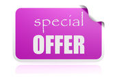 Special offer purple sticker — Stock Photo