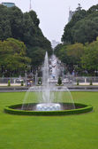 Fountain in front of Reunification palace, Vietnam — Stock fotografie