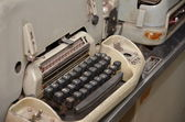 Type writter in Reunification palace Vietnam — Stock Photo