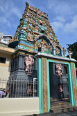 Indian Hindu Temple in Chinatown, Singapore — Stock Photo