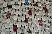 Wall of toilet bowl — Stock Photo