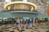 Departure hall of Changi Airport, Singapore — Foto Stock
