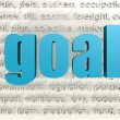 Stock Photo: Goal word