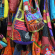 Bags at an oriental market — Stock Photo
