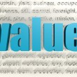 Value word cloud — Foto Stock