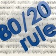 80 20 Rule — Stock Photo