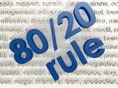 80 20 Rule — Stock Photo