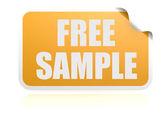 бесплатный образец желтый стикер — Стоковое фото