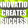 Innovation creates success — Stock Photo