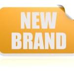Постер, плакат: New brand yellow sticker