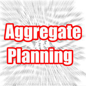 Aggregate Planning — Stock Photo